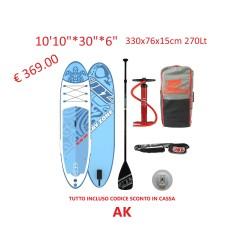 """2020 JBAY.ZONE 10'10""""X30""""X6"""" 330x76x15cm 270Lt iSUP ALLAROUND 10'10"""" KAME H2 TAVOLA SUP INFLATABLE"""