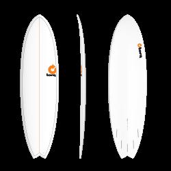 "2020 TORQ TET 6'10"" FISH WHITE+PINLINE TAVOLA SURF"