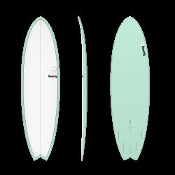 """2020 TORQ TET 6'6"""" FISH SEAGREEN+PINLINE TAVOLA SURF"""