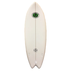 "2020 CBC 5'8"" SLASHER WHITE, PIN TAIL, LEASH & LONGHERONE TAVOLA SURF SOFT"