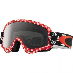 OAKLEY XS O FRAME MX TLD SKULLBONE RED W/DARK GREY MASCHERA DA CROSS