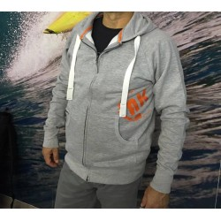 Starboard Mens Active Zip Hoodie Grey