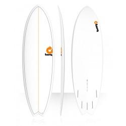 2018 TORQ TET EPOXY FISH WHITE PINLINE TAVOLE SURF