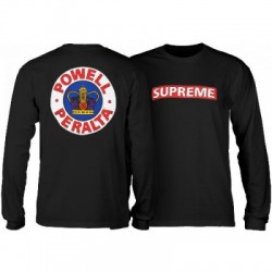2019 POWELL PERALTA 2XL L/S BLACK T-SHIRT