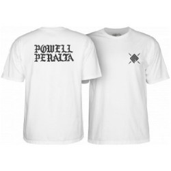 2019 POWELL PERALTA PPP BURST WHITE T-SHIRT