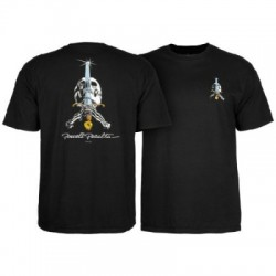 2019 POWELL PERALTA SKULL&SWORD BLACK T-SHIRT